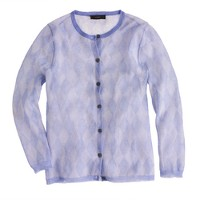 Collection argyle gauze cardigan