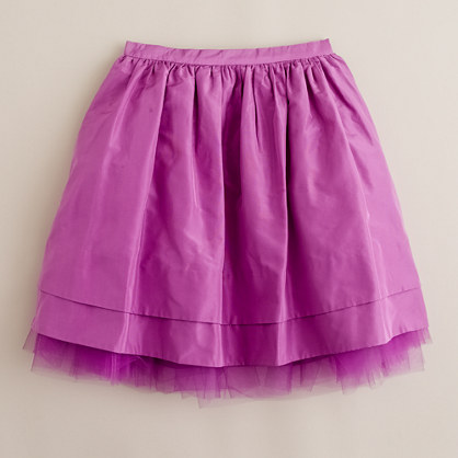 Girls' taffeta cupcake skirt