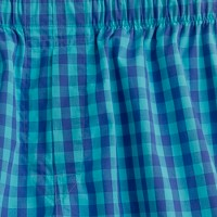 Pacific turquoise check boxers