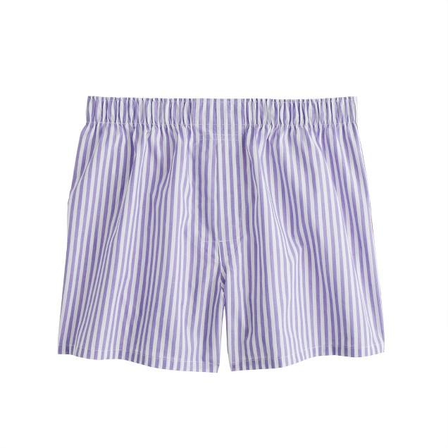 Purple wide-stripe boxers