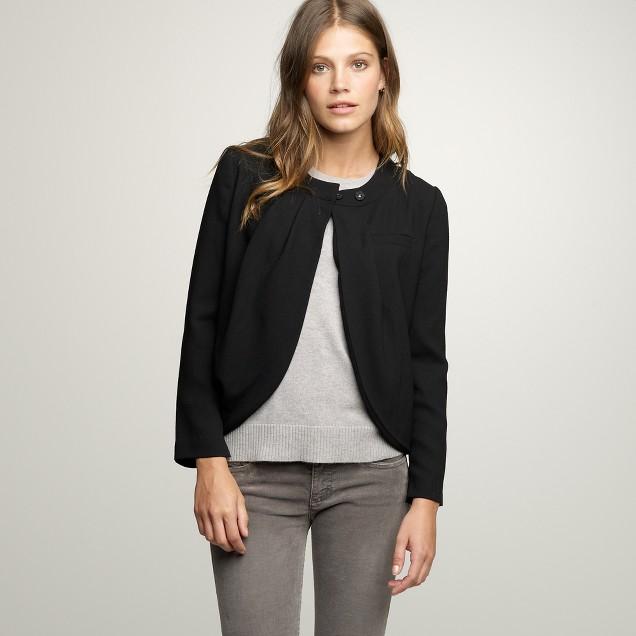 Double-drape Justine jacket