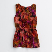 Factory printed silk streamers cami
