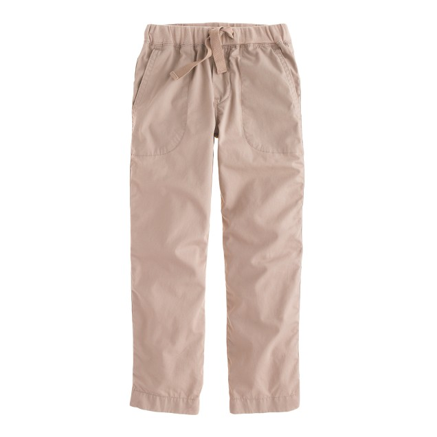 Boys' pull-on lightweight chino in straight fit