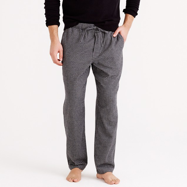 Flannel pajama pant in check