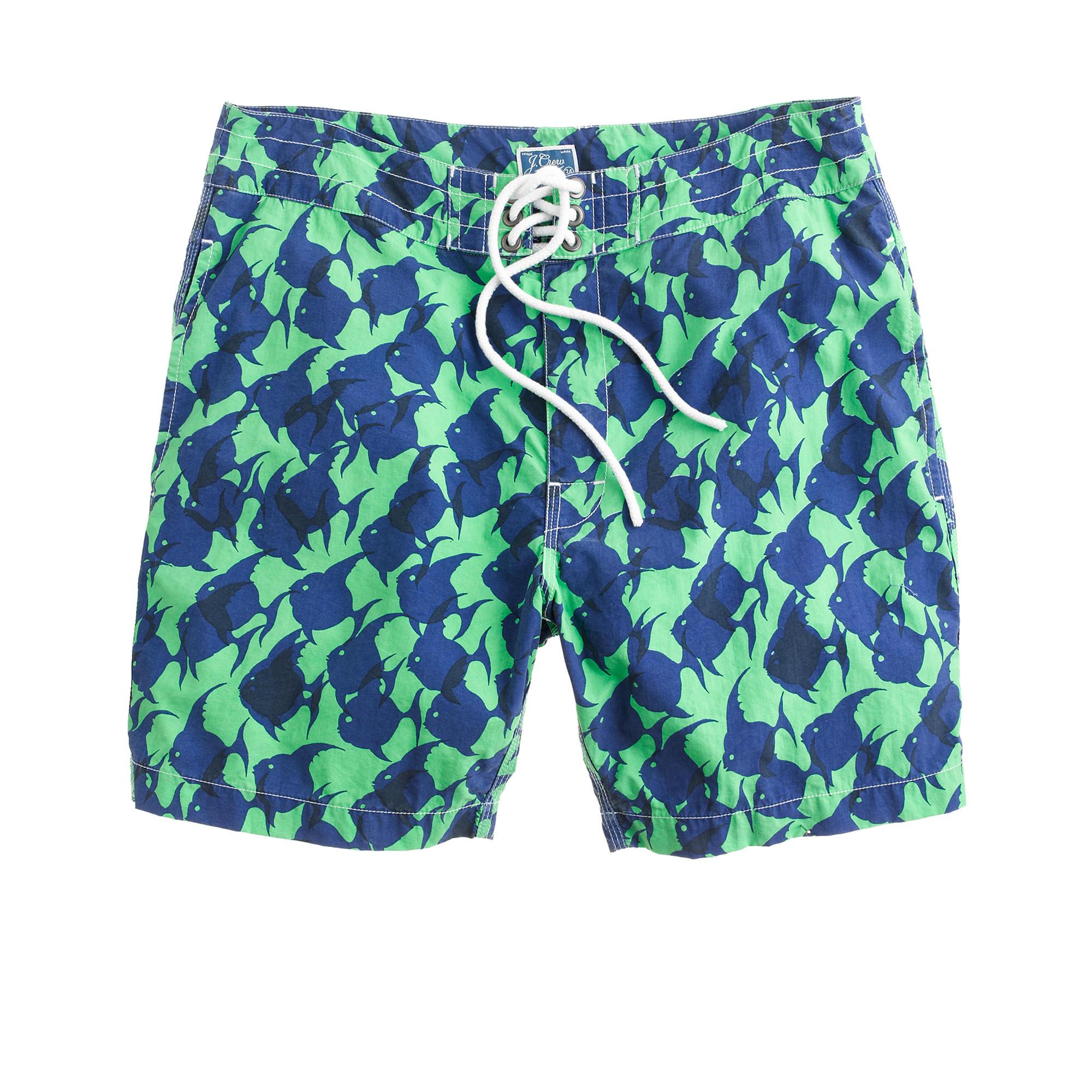 7 board shorts in tropical fish j crew for Fishing swim trunks