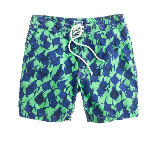 "7"" board shorts in tropical fish"