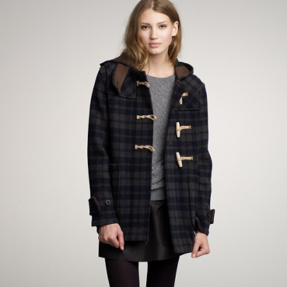 Gloverall® plaid toggle coat