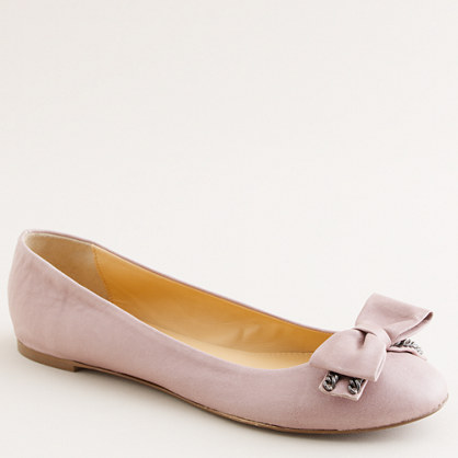 Bow and chain ballet flats