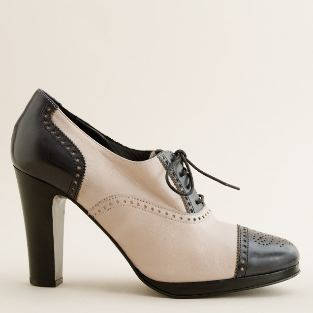 Langford two-tone high-heel oxfords