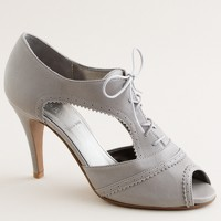 Crosby lace-up peep toes