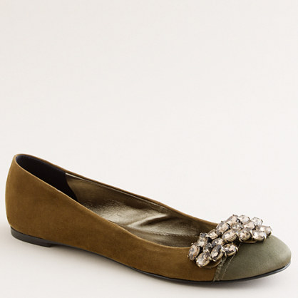 Crystal wing ballet flats