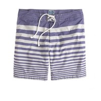 "7"" board shorts in nautical stripe"
