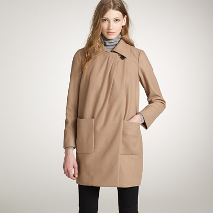 Wool-cashmere capella coat