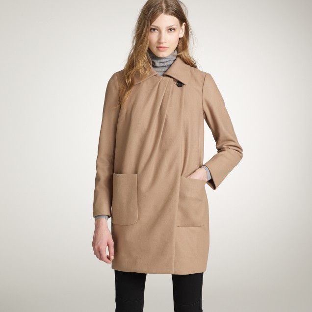 Wool-cashmere capella coat