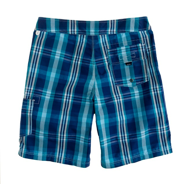 """9"""" board shorts in surf plaid"""