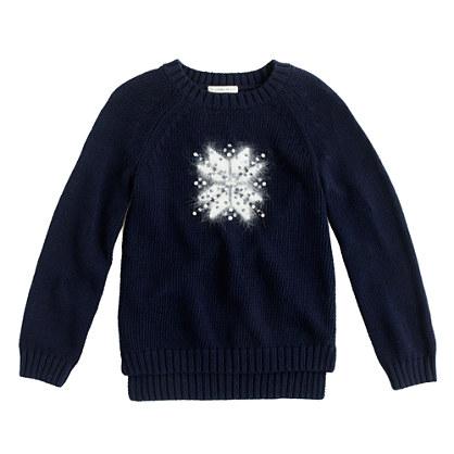 Girls' snowflake sweater