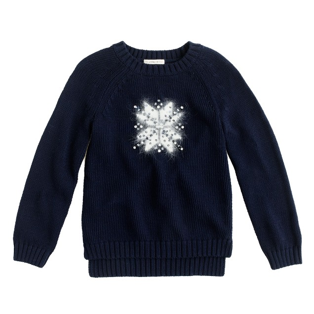 Girls' snowflake sweater