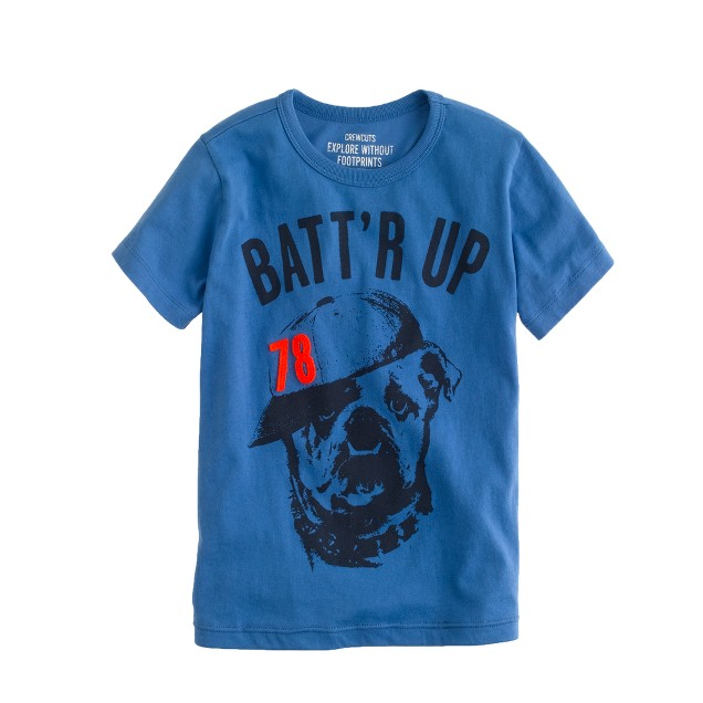 Boys' batt'r up bulldog tee