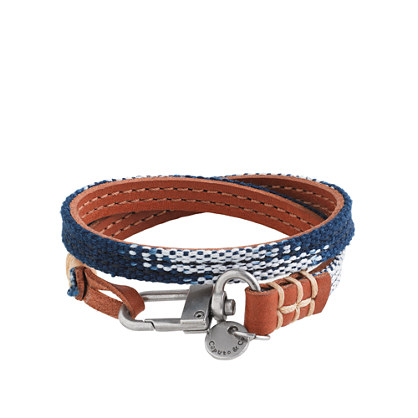 Caputo & Co. reversible leather wrap bracelet