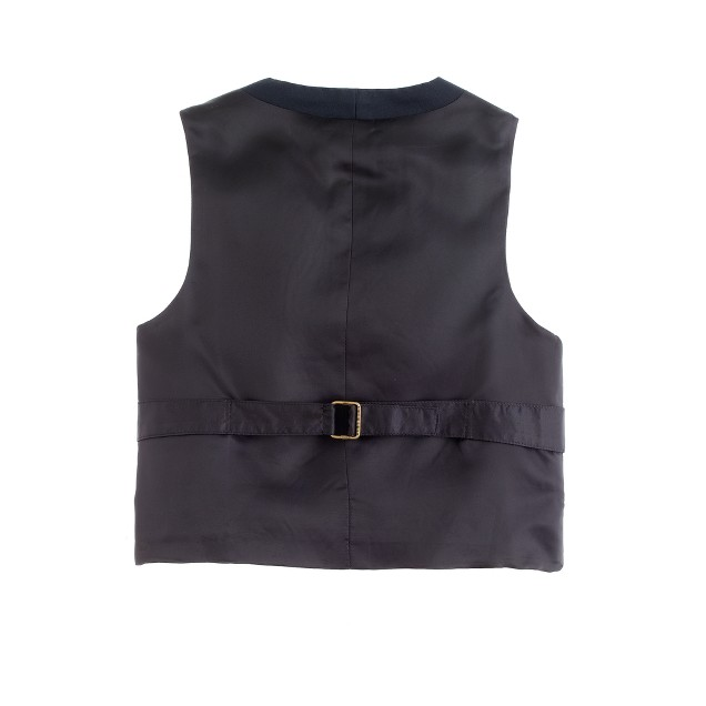 Boys' Ludlow suit vest with back buckle in Italian wool