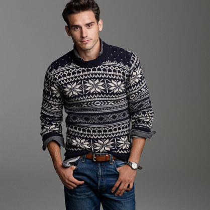 Fine lambswool Fair Isle sweater