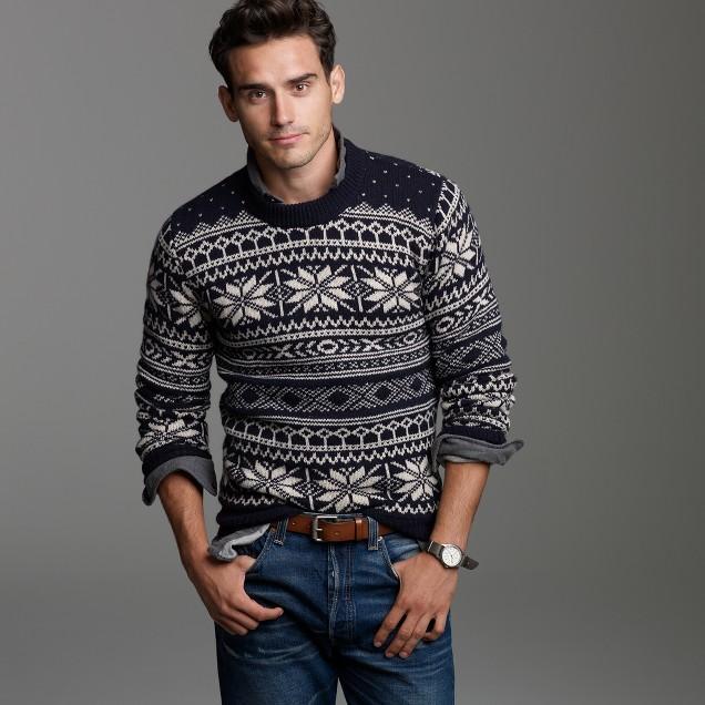Fine lambswool Fair Isle sweater
