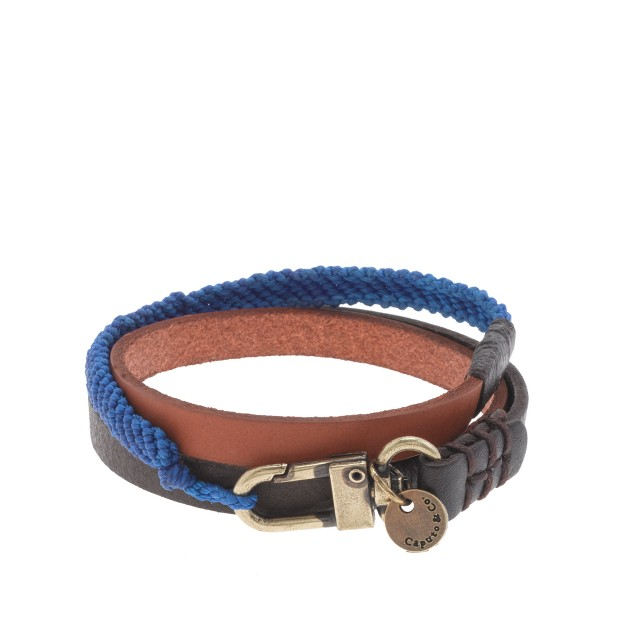 Caputo & Co. triple-wrap leather bracelet