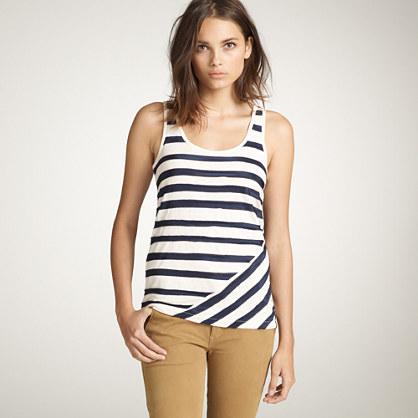 Vintage cotton traversa-stripe tank