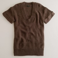 V-neck maxi sweater