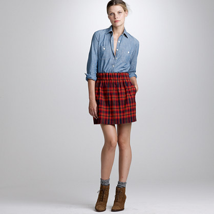 Cypress plaid skirt