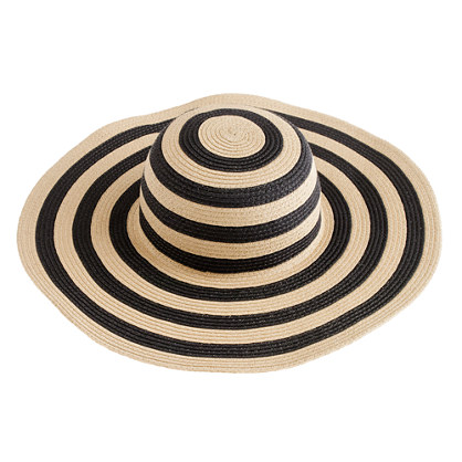 Summer straw hat in stripe