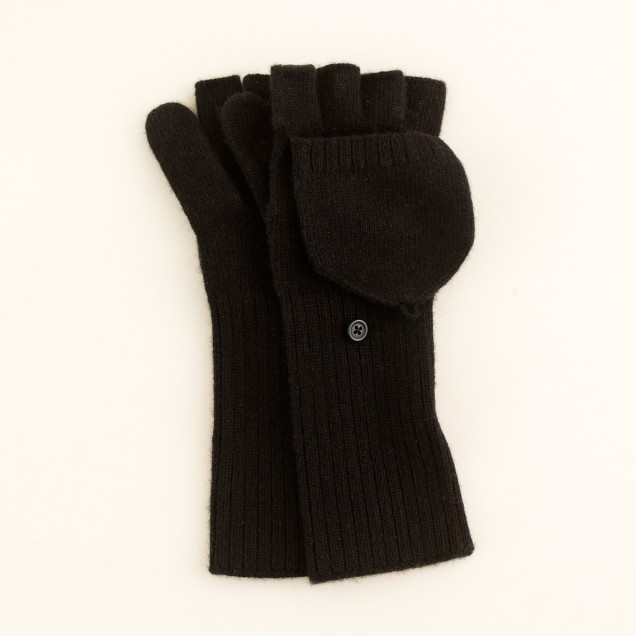 Button flap mittens