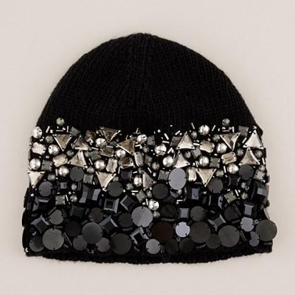 Gem-laden knit hat