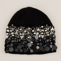 Gem-laden knit hat