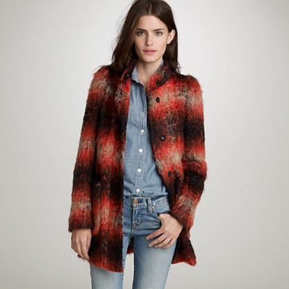 Ombré mohair coat