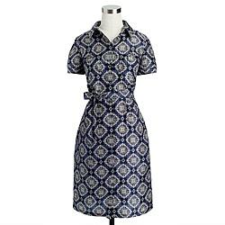 Collection medallion paisley shirtdress