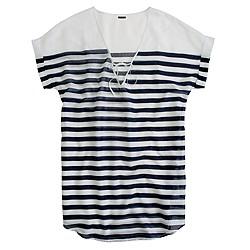 Sheer stripe tunic