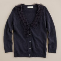 Girls' tulle-trim dream cardigan