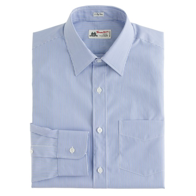 Thomas Mason® for J.Crew spread-collar shirt in baltic stripe
