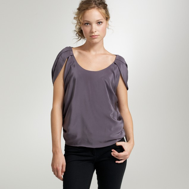 Draped sleeve blouse
