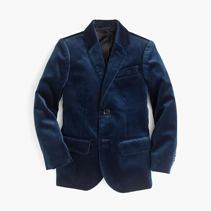 Kids' Ludlow blazer in velvet
