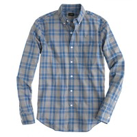Secret Wash shirt in blue plaid