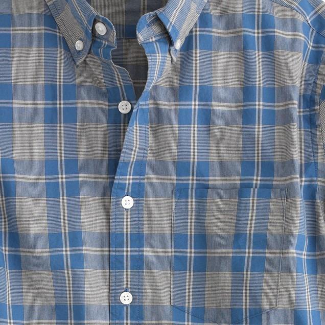 Secret Wash shirt in blue plaid