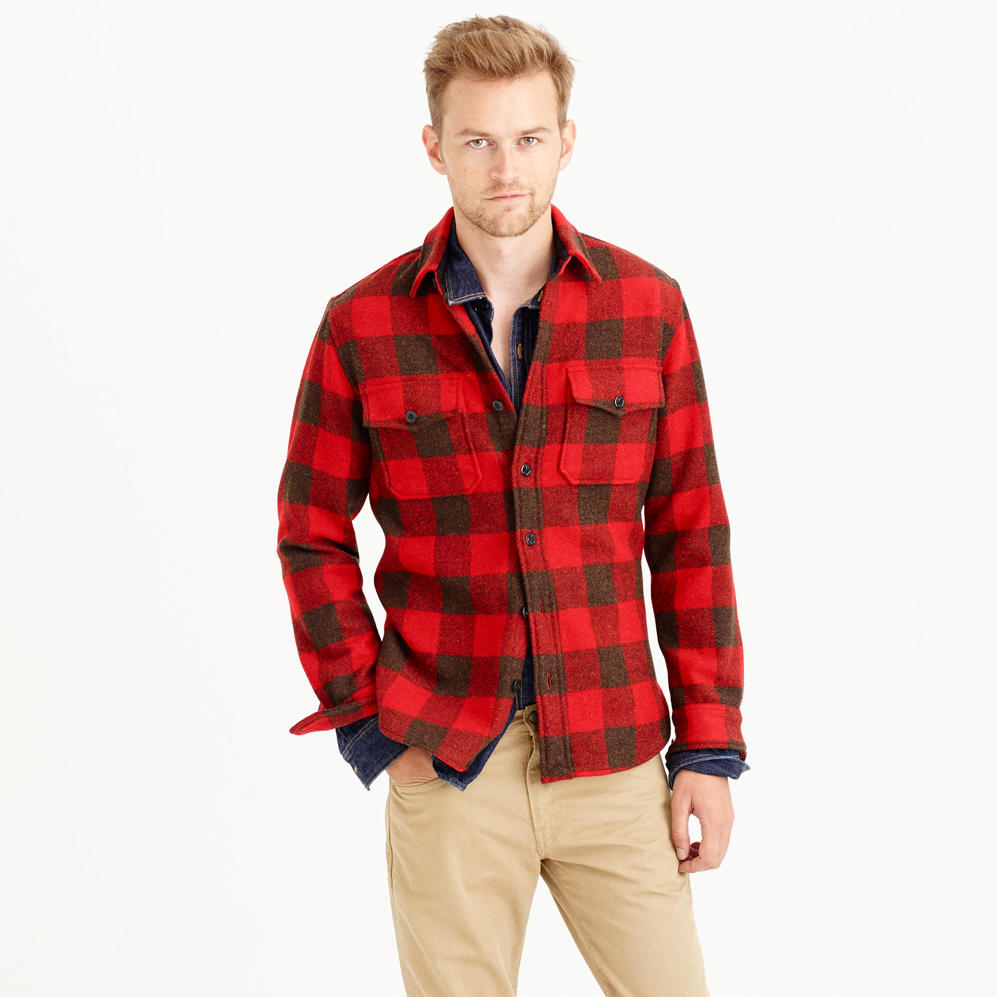 Buffalo check CPO shirt-jacket : | J.Crew