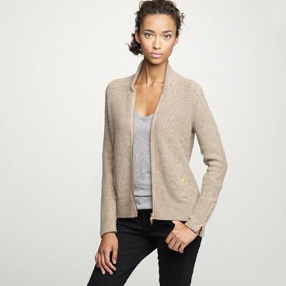 Gilded sweater-jacket