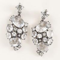 Crystal mosaic earrings