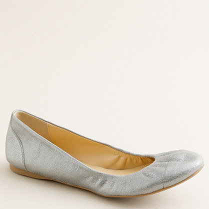 Cece cracked metallic ballet flats