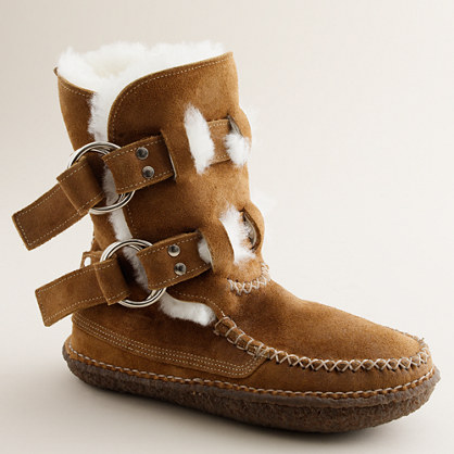 Quoddy® double-ring boots in suede