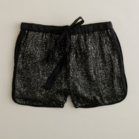 Silk sequin short