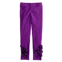 Girls' everyday leggings in silk flower